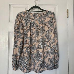 LOFT Tops - LOFT long sleeve floral blouse